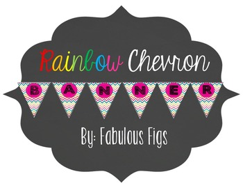 Subject Banners - Rainbow Chevron