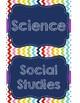 Rainbow Chevron Subject Labels