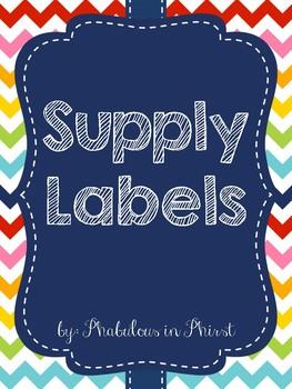 Rainbow Chevron Supply Labels