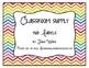 Rainbow Chevron Supply Tub Labels