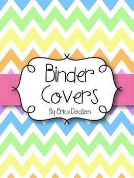 Rainbow Chevron Teacher Binder Covers