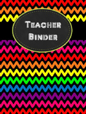 Rainbow Chevron Teacher Binder Pages