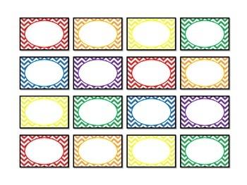 Rainbow Chevron Teacher Toolbox Labels