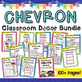 Chevron Classroom Decor Bundle -  Word Wall, Jobs, Schedule Cards, & More!