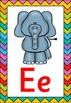 Rainbow Chevron Themed Alphabet Posters Frieze {UK Teaching Resource}
