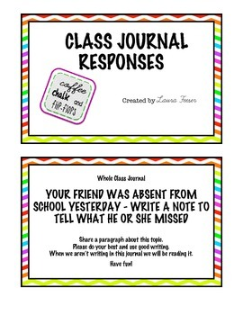 Rainbow Chevron Themed Expository Writing Prompts
