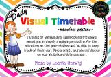 Rainbow Chevron Visual Timetable - Daily Chart - Free