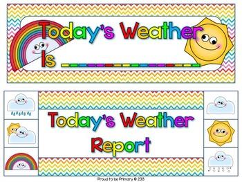 Rainbow Chevron Weather & Seasons Bulletin Board