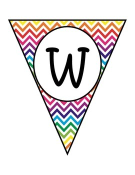 Rainbow Chevron Welcome Banners in English and Spanish