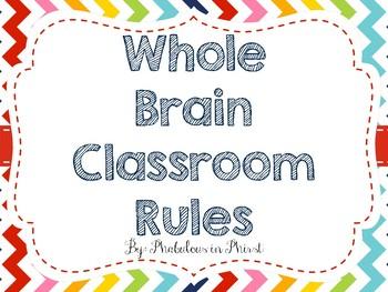 Rainbow Chevron Whole Brain Teaching Rules Posters