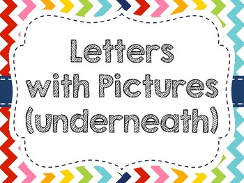 Rainbow Chevron Word Wall Display (Pictures Under Letter Only)