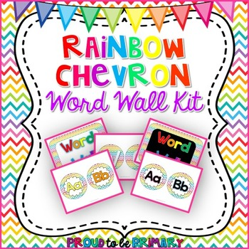 Rainbow Chevron Word Wall