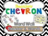 Rainbow Chevron Word Wall Headers & 220 Word Wall Words {Editable}