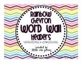 Rainbow Chevron Word Wall Headers