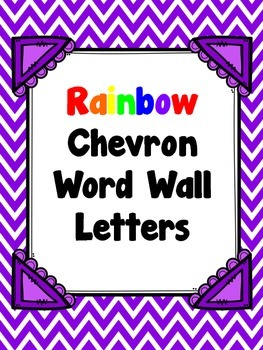 Rainbow Chevron Word Wall Letters