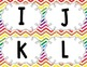 Rainbow Chevron Word Wall Set