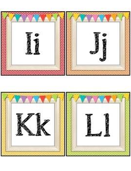 Rainbow Chevron Word Wall Set, Header, Banner and Editable Cards