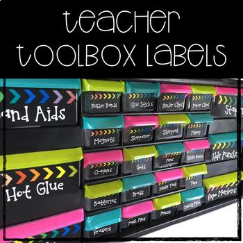 Rainbow & Chalkboard Complete Classroom Decor Set (EDITABLE)
