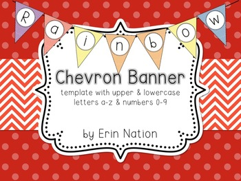 Rainbow Chevron banner template