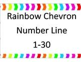 Rainbow Chevron number line 1-30