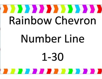 graphic about Printable Number Line 1-30 identified as Rainbow Chevron range line 1-30