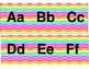 Rainbow Chevron word wall or letter strip
