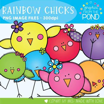 Rainbow Chicks Clipart