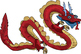 Rainbow Chinese Dragons Clip Art {Messare Clips and Design}