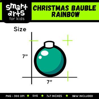 Rainbow Christmas Bauble Clip Art