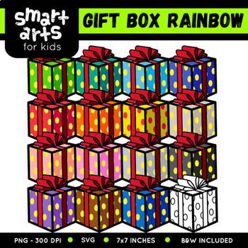 Rainbow Christmas Clip Arts COLOSSAL Bundle