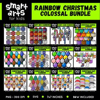 Math Christmas Rainbow Clip Arts COLOSSAL Bundle