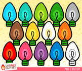 Rainbow Christmas Lights Christmas Clip Art