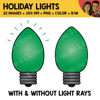 Rainbow Christmas Lights Clipart