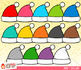 Rainbow Christmas Objects Clip Art Bundle