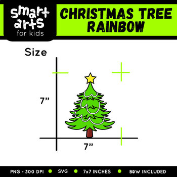 Rainbow Christmas Tree Clip Art
