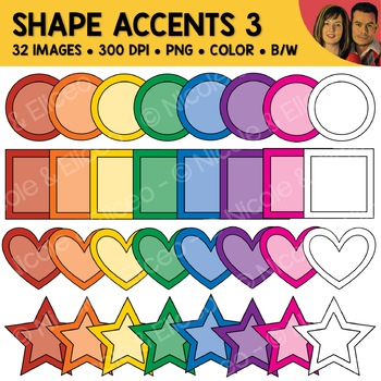 Shape Accents Clipart 3