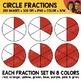 Rainbow Circle Fractions Clipart