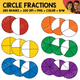 Rainbow Circle Fractions Clipart