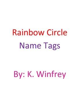 Rainbow Circle Name Tags