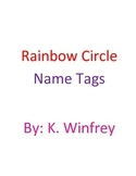 Rainbow Circle Name Tags