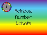 Rainbow Circle Number Labels