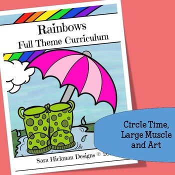 Rainbow Circle Time, Large Muscle and Art Activities for Preschool