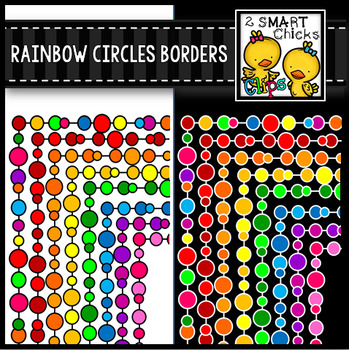 Rainbow Circles Borders