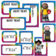Bright Colors Classroom Decor| Editable| Rainbow