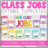 Editable Class Jobs Display | Rainbow Classroom Decor