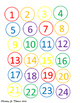 Rainbow Class Numbers Freebie