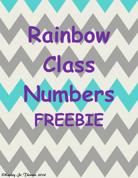 Rainbow Class Numbers Freebie