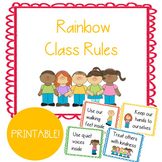 Colorful Rainbow Positive Class Rules & Expectations: Buil