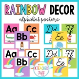 Rainbow Classroom Decor: Alphabet Posters