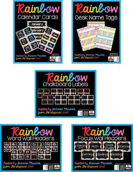 Rainbow Classroom Decor BUNDLE